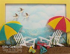 KC IO Beach Chairs and Umbrellas close