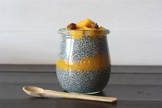pudding de chia con mango y vainilla