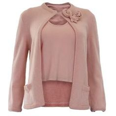 1990s Chanel Dusty Pink Cashmere 2 Piece