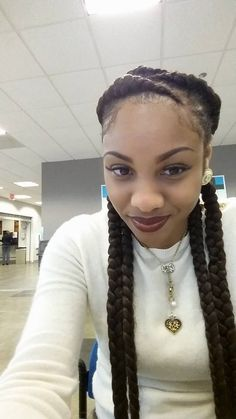 Easy Protective Styling Idea - http://www.blackhairinformation.com/community/hairstyle-gallery/braids-twists/easy-protective-styling-idea/ #braids #protectivestyling