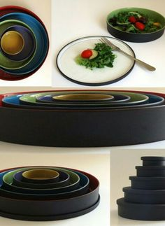 I have the cups and plates. They re fab! Different Shapes, Simply Beautiful, Primary Colors, Serving Bowls, Diana, Pottery, Clay, Plates, Ceramics