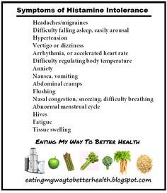 Symptoms of histamine intolerance. Do you flush when you drink alcohol? Vinegar give you hives?