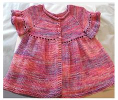 Ravelry: Sparkly Flouncy Baby Cardi pattern by Sue Caldwell