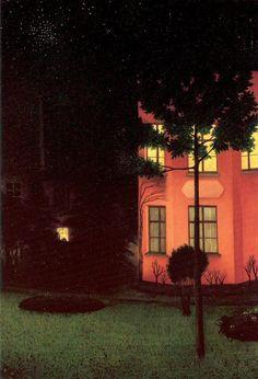 William Degouve de Nuncques - The Pink House, 1892