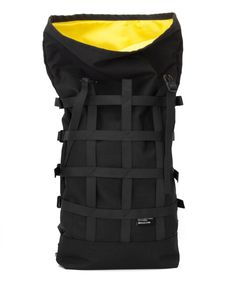 Rolltop black backpack for urban cycling daily от BraasiIndustry