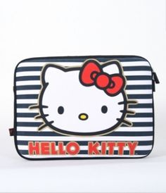 """Hello Kitty Striped Bows 13"""" Macbook and 13"""" Macbook Pro Case...oh my..."""