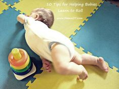 10 tips for helping babies learn to roll #childdevelopment #mamaot