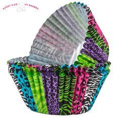 Safari Cupcake Liners; Jungle Theme Birthday Cupcakes; Fisher Price Theme Baby Shower; Bridal Cupcakes; Animal Theme Cupcakes; Birthday deco by SimplyCreatedForYou6 on Etsy
