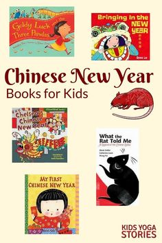 Chinese New Year Books for Kids - with matching Chinese New Year Zodiac Animal Yoga Poses for Kids Chinese New Year Kids, Chinese New Year Zodiac, Kids Yoga Poses, Yoga For Kids, Kids Story Books, Stories For Kids, Children Books, Animal Yoga, Kindness Activities