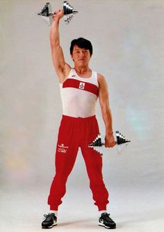 Workout with Jackie Chan.