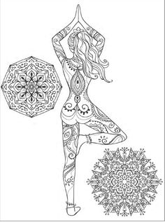 Yoga and meditation coloring book for adults: With Yoga Poses and Mandalas by Alexandru Ciobanu - issuu Mehr Yoga Art, Zentangle Patterns, Zentangles, Mandala Coloring, Coloring Book Pages, Coloring Sheets, Printable Coloring, Free Coloring, Belle Photo