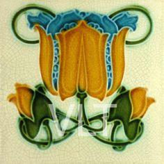Art Nouveau Reproduction Tile #92, from Villa Lagoon Tile