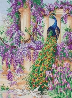 Name: 'Embroidery : Peacock Counted Cross Stitch Chart Cross Stitch Bird, Counted Cross Stitch Patterns, Cross Stitch Designs, Cross Stitch Embroidery, Embroidery Fabric, Embroidery Patterns, Crystal Embroidery, Peacock Pattern, Counted Cross Stitches