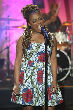 """8-time Grammy Nominated Ledisi performs """"Like This"""" on The Queen Latifah Show ... Locs"""