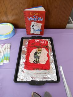 """Auddia P. won for """"Most Book-like"""" with her cake of Diary of a Wimpy Kid! 2013"""
