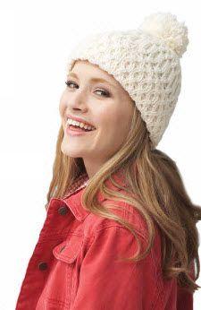 Bernat® Super Value Aran Hat #knit #pattern