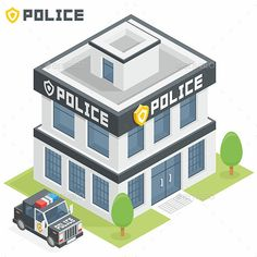 Vector isometric police division constructing icon Vector Constructing Obtain Minecraft City, Minecraft Houses, Minecraft Mansion, Minecraft Plans, Isometric Art, Isometric Design, Minecraft Creations, Minecraft Projects, Smart City