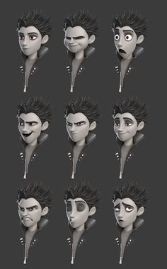 Drawing Facial Expression Different facial expressions; Character Design Cartoon, 3d Model Character, Character Design Animation, Character Sheet, Character Modeling, Character Design References, Character Drawing, Character Design Inspiration, Character Illustration