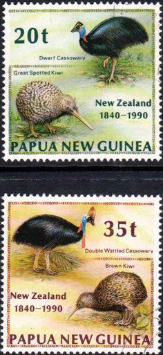Papua New Guinea 1990 Treaty of Waitangi Set Fine Used SG 622/3 Scott 740/1 Other European and British Commonwealth Stamps HERE!