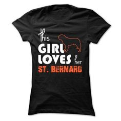 This Girl Loves Her st bernard - #polo t shirts #funny t shirt. FASTER => https://www.sunfrog.com/Pets/This-Girl-Loves-Her-st-bernard-yesyx-Ladies.html?id=60505
