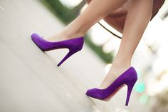 Purple shoes...