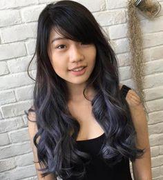 Ash Black Ombre Hair