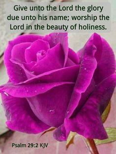 Psalm 29:2 KJV