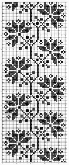 Cross stitch or Filet chart. Cross Stitch Borders, Cross Stitch Flowers, Cross Stitching, Cross Stitch Embroidery, Embroidery Patterns, Cross Stitch Patterns, Knitting Charts, Knitting Stitches, Knitting Patterns