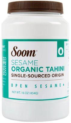 Soom Foods Organic Pure Ground Sesame Tahini Paste, 16oz