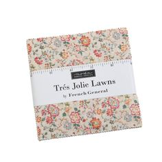 Moda Fabrics Tres Jolie Floral Lawn French General Charm Pack | Fabric Square 5 Inch Patchwork Fabric, Fabric Patch, Fabric Squares, French General, Liberty Fabric, English Paper Piecing, Charm Pack, Applique Quilts, Square Quilt