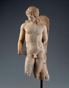 Roman statue of Cupid, possibly modeled on an earlier Greek masterwork, c.190 AD
