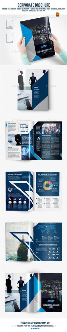 Blue annual report brochure flyer design template vector, Leaflet - technology brochure template