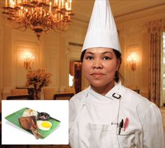 White House executive chef Comerford. Inset: bangsilog