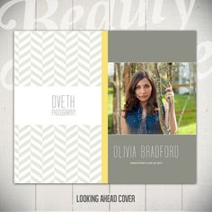 Senior Accordion Album Template: Looking Ahead - 4x8 Graduation Template for Photographers. Etsy | Beauty Divine