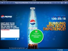 Breaking: The box is fizzzzziiiing with Pepsi! Our first piece of work for Pepsi India! http://cantwaitabhi.com/