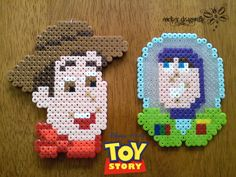 From Toy Story: Woody and Buzz - Perler Bead Creation by RockerDragonfly