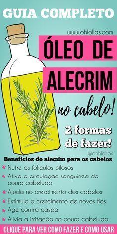 Oleo De Alecrim No Cabelo Guia Completo Com Imagens Alecrim