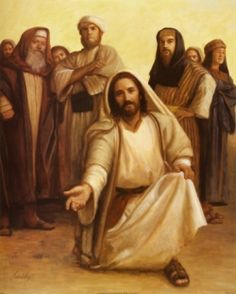 This picture of Jesus Christ, kneeling down and beckoning you to come to him, is one of my favorites. This photo represents how gentle Jesus is. Jesus Our Savior, Who Is Jesus, Jesus Is Lord, Jesus Loves, Pictures Of Jesus Christ, Religious Pictures, Religious Art, Jesus Pics, Religious Paintings