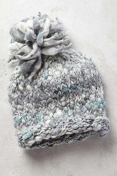 chunky and cool - icy blue beanie