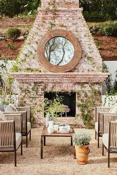 Massive brick outdoor fireplace! #outdoor #fireplace homechanneltv.com