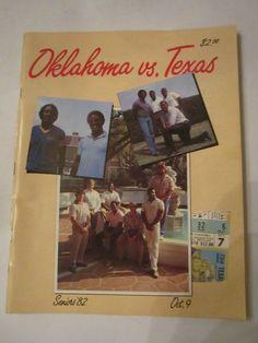 1982 OKLAHOMA VS TEXAS - OFFICIAL FOOTBALL GAME PROGRAM - TUB FP