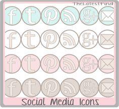 10 miejsc z darmowymi ikonami social media na bloga i nie tylko. | Madziof .pl / Free social media icons