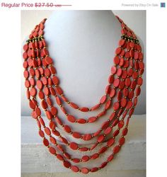 This listing is for Statement Necklace/ Coral Bib Necklace/Bohemian Necklace/Chunky Necklace/Beaded Necklace/Layer Necklace /Beaded Jewelry( 24 inches