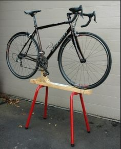 Bicycle Stand Mechanic Repair Rack Display Bike Storage Adjustable Height Black