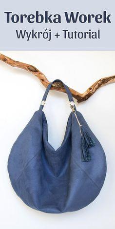 f9ad0c6c5b0bb Duża torebka worek - wykrój krawiecki i tutorial. Jak uszyć dużą torebkę z  zamkiem i