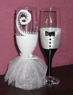 Joann's wedding glasses