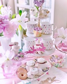 .#EasterTable #TimeForCoffee #Eastertreats #Tablescape #BunnyDecor #SpringDecor #DailyDarling #FloralDesigner #Whimsical #VictoriaMagazine #SouthernLadyMag #teatimemagazine #naughtyteas #MySouthernLiving #bhghowiholiday #SweetnessOverload #BeautifulHome #Easterdecor #shabbychicstyle #dessertlovers #PastelLove #myhomesense #ILovePink #inspire_me_home_decor #TableScapes #PartyStylist #PartyIdea #flowerloversdaily #LoveYourHome #SpringFlorals Spring Is Here, Spring Home, Tea Time Magazine, Victoria Magazine, Inspire Me Home Decor, Love Your Home, Easter Table, Easter Treats, Shabby Chic Style