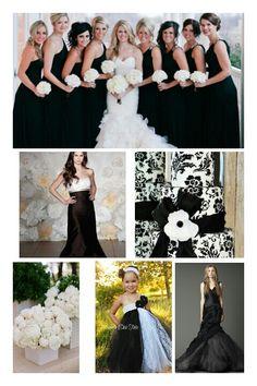 Classic Black and White wedding #style #highdramaweddings #yatesjewelers
