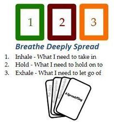 breathe deeply tarot card spread