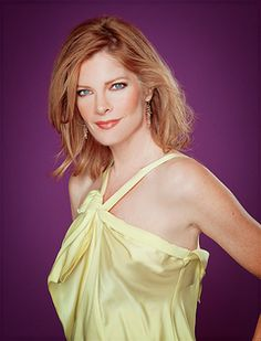 Michelle Stafford as Phyllis, love her! So angry she is off the show! Joshua Morrow, Michelle Stafford, Girl Celebrities, Young And The Restless, Cute Hairstyles, Gorgeous Women, Redheads, Love Her, Camisole Top